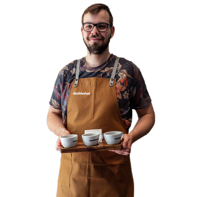 Barista apron with doubleshot logo