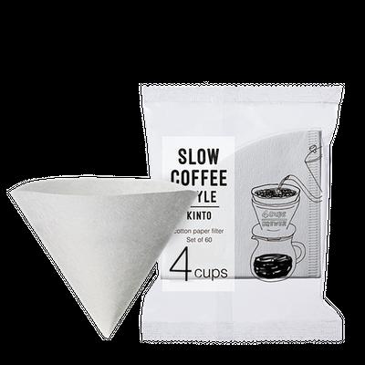 Kinto papírové filtry 4cups (60 ks)