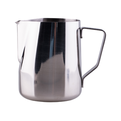 Stainless steel milk pitcher with volume marker 340 ml